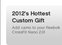 2012's Hottest Custom Gift | Add camo to your Reebok CrossFit Nano 2.0!