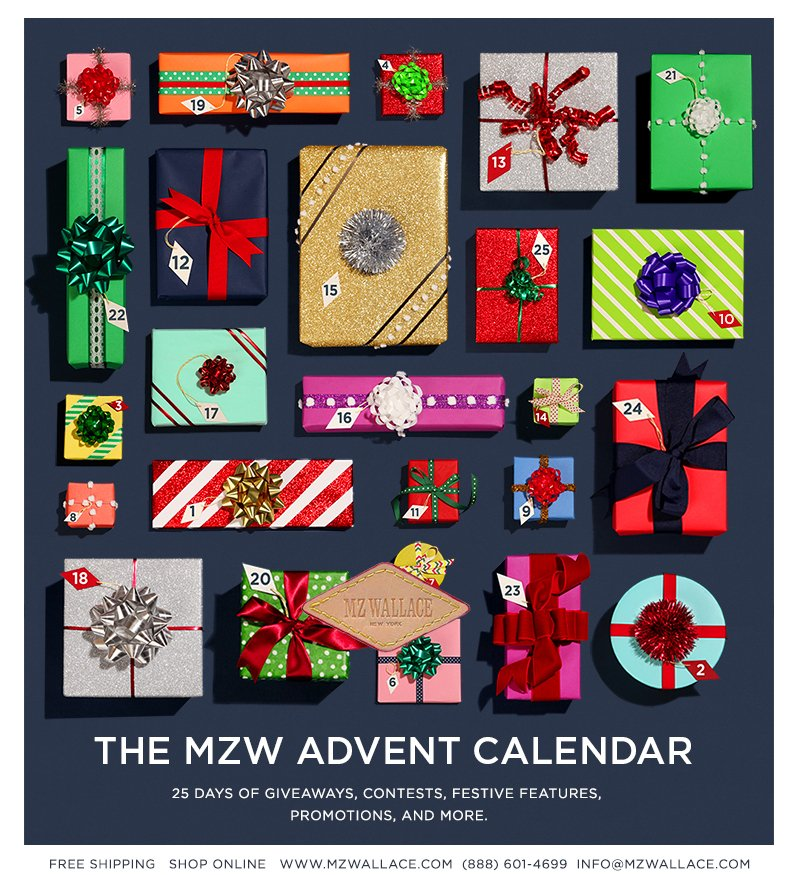 The Third Annual MZW Advent Calendar – 25 days of giveaways, contests, festive features, promotions, and more.