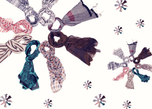 Designer Scarves: Ralph Lauren, Armani, Balenciaga, Burberry, Furla & more