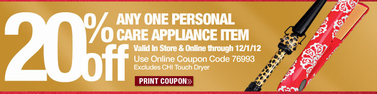 20% off Personal Care Appliances