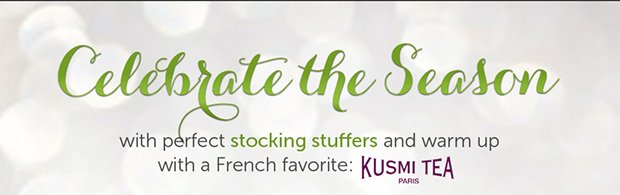 Celebrate the season with perfect stocking stuffers and warm up with a French favorite: Kusmi Tea Paris
