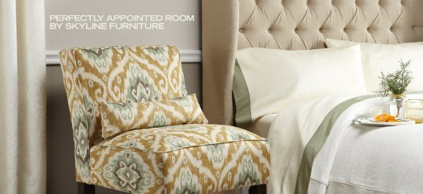 PERFECTLY APPOINTED ROOM BY SKYLINE FURNITURE, Event Ends December 4, 9:00 AM PT >