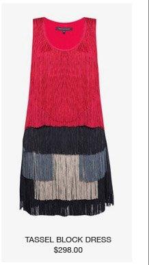 tassel block dress