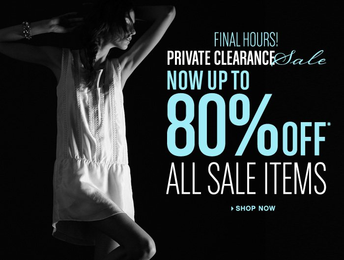 Private Clearance Sale