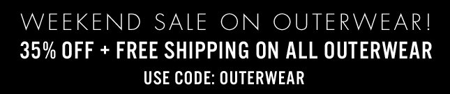35% OFF OUTERWEAR