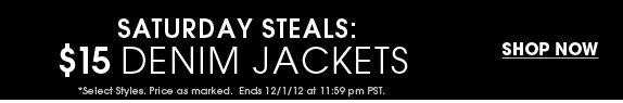 Saturday Steals - Denim Jackets