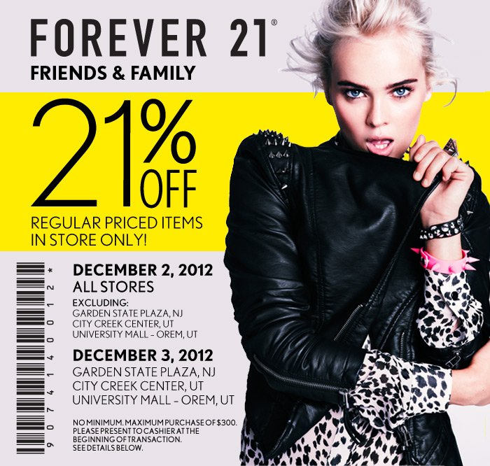 Friends & Family 21% Off - In Store Only! - Click here for Store Locator