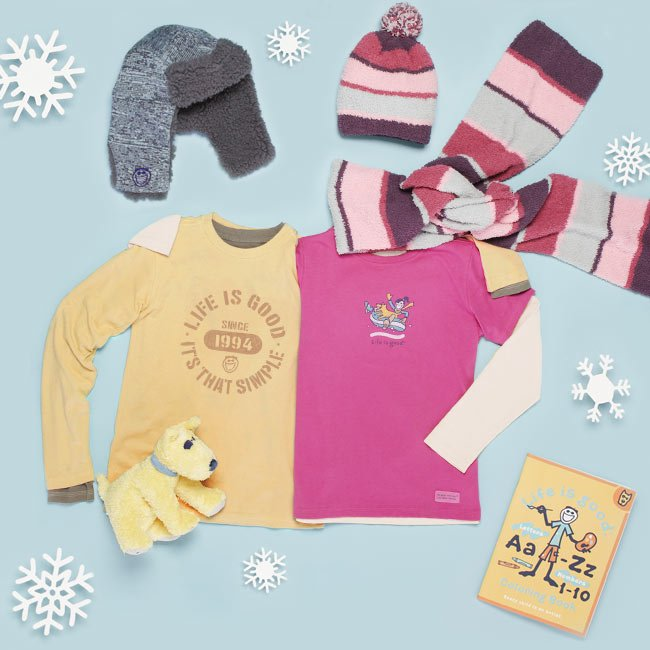 Winter Hats, Scarves and Long Sleeve Tees for Kids