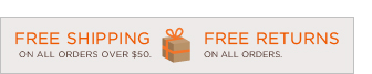 FREE SHIPPING ON ALL ORDERS OVER $50 | FREE RETURNS ON ALL ORDERS