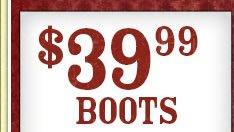 Women's $39.99 Boots