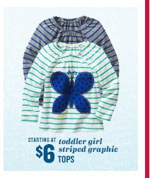 STARTING AT $6 | toddler girl striped graphic TOPS