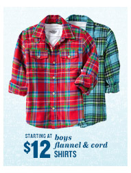 STARTING AT $12 | boys flannel & cord SHIRTS