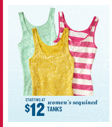 STARTING AT $12 | women's sequined TANKS