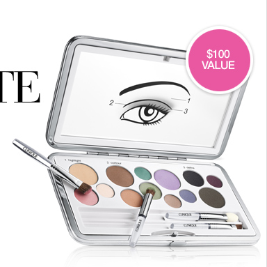 THE ULTIMATE EYE KIT. Yours for $29.50 with any  purchase. With this exclusive eye kit, a new eye look is easy as 1-2-3.  SHOP NOW.