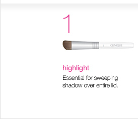 Highlight. Essential for sweeping shadow over entire  lid.