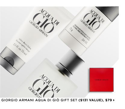 Featuring Giorgio Armani Aqua di Giò Gift Set ($131 Value), $79