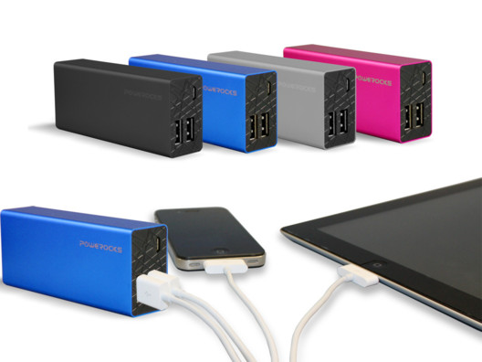 Don't let your phone abandon you at some crucial moment: hook yourself up with the Rose Stone portable power bank by Powerocks.