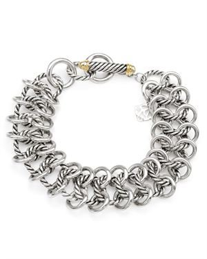 David Yurman Sterling Silver Link Bracelet $599