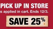 save 25 percent