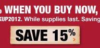 save 15 percent