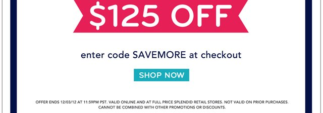 Don't forget to Spend & Save!