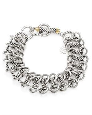 David Yurman Sterling Silver Link Bracelet $599