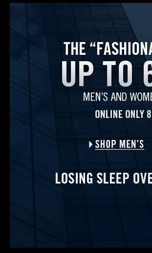UP TO 60% OFF / SHOP MEN'S