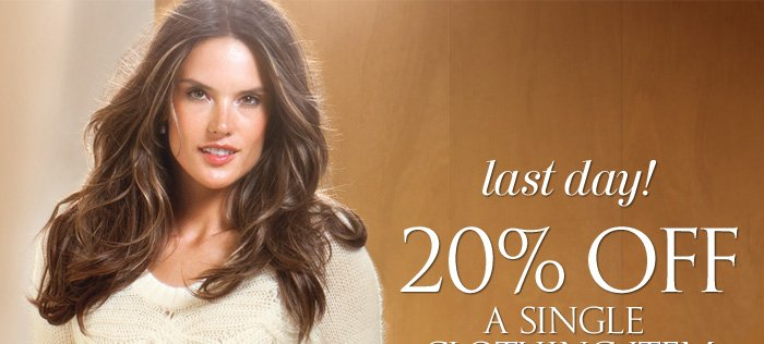 20% Off A Single Clothing Item