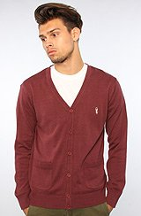 The Noble Cardigan in Oxblood