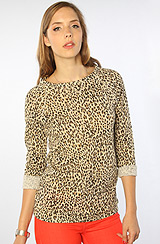 The Echo Mountain French Terry Sweatshirt in Leopard