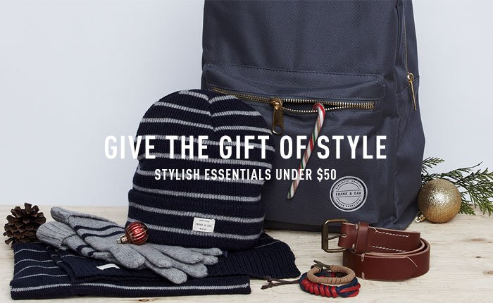Stylish essentials under $50