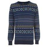 Paul Smith Knitwear - Navy Fair Isle Knit Jumper