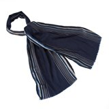 Paul Smith Scarves - Navy Edge Stripe Scarf