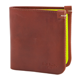 Paul Smith Wallets - Tan Wallet with Fluorescent Yellow Interior