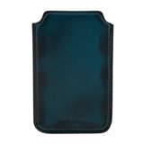 Paul Smith Phone Cases - Teal Burnished Leather iPhone Case