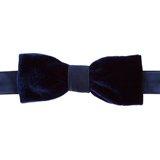 Paul Smith Ties - Navy Velvet Bow Tie