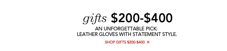 gifts under $200-$400
