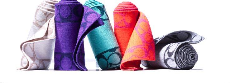 signature border scarf