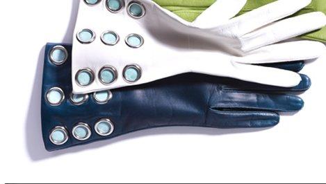 leather grommet glove