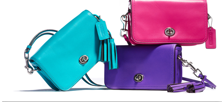 leather penny shoulder purse