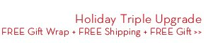 Holiday Triple Upgrade. Gift Wrap + FREE Shipping + FREE Gift.