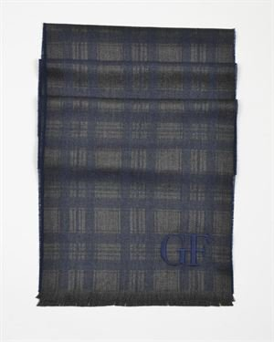 Gianfranco Ferre Logo Detail Check Print Scarf Made In Italy