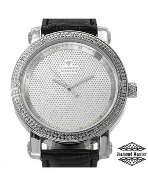 Brand New DIAMOND MASTER Diamond Leather Men's Watch