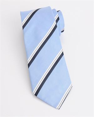 Valentino Tri-Tone Striped Tie Made In Italy