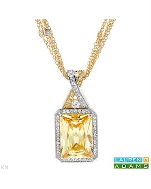 LAUREN G. ADAMS Necklace Designed In Yellow Gold Plated Silver