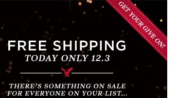 Free Shipping Today Only 12.3 | There's Something On Sale For Everyone On Your List... | Get Your Give On