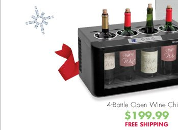 4-Bottle Open Wine Chiller $199.99 FREE SHIPPING