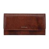 Paul Smith Purses - Chocolate Brown Leather Tri-Fold Purse