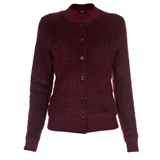 Paul Smith Knitwear - Cropped Burgundy Mohair Cardigan