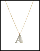 Laura Lee A Letter Necklace
